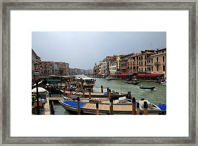 Venice Grand Canal 1 Framed Print by Andrew Fare
