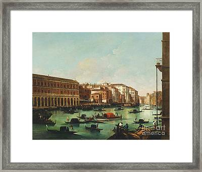 Venice Grand Canal Framed Print by Pg Reproductions