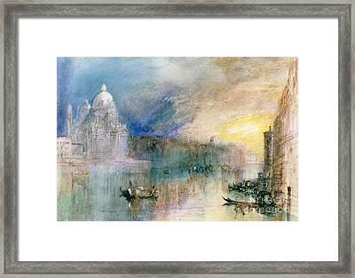 Venice Grand Canal With Santa Maria Della Salute Framed Print