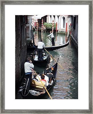 Venice Gridlock Framed Print