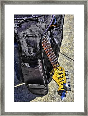 Venice Guitar I Framed Print by Chuck Kuhn