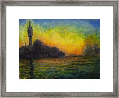 Venice Illuminated Framed Print by Maureen Pisano