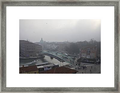 Framed Print featuring the photograph Venice In Fog by Raffaella Lunelli