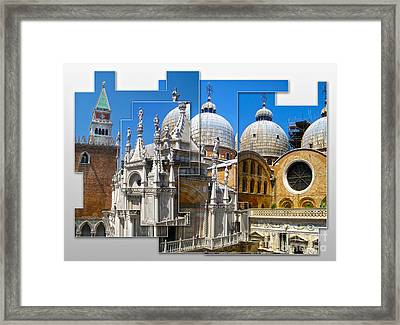 Venice Italy - Cathedral Basilica Of Saint Mark Framed Print by Gregory Dyer