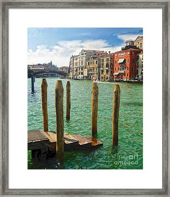 Venice Italy - Grand Canal View Framed Print by Gregory Dyer