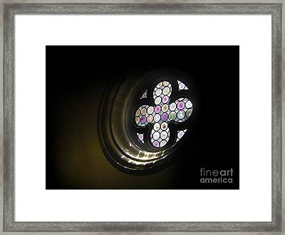 Venice Italy - Rose Window Framed Print by Gregory Dyer