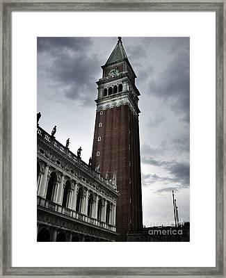 Venice Italy - Saint Marks Campanile Framed Print by Gregory Dyer