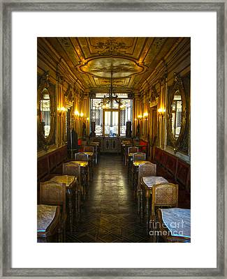 Venice Italy - Tea Room Framed Print by Gregory Dyer
