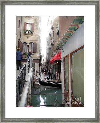 Framed Print featuring the photograph Venice by Leslie Hunziker