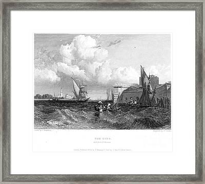 Venice: Lido, 1833 Framed Print