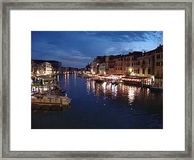 Framed Print featuring the photograph Venice by Marta Cavazos-Hernandez