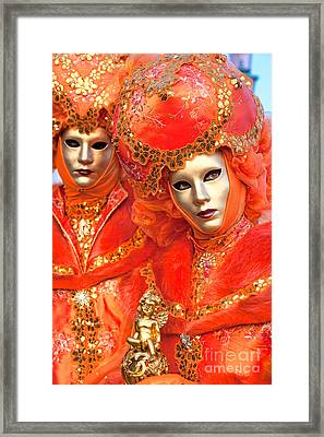 Framed Print featuring the photograph Venice Masks by Luciano Mortula