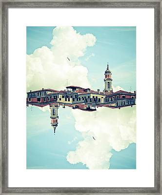 Venice Mirrored Framed Print