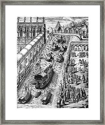 Venice: Procession Framed Print by Granger