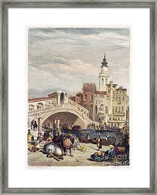 Venice: Rialto, 1833 Framed Print by Granger