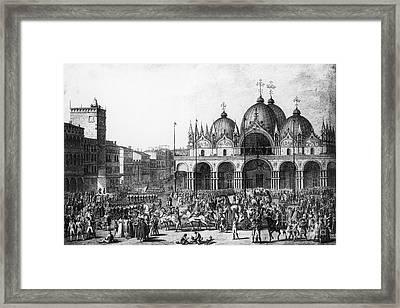 Venice: Saint Marks, 1797 Framed Print by Granger