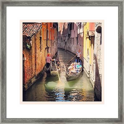 Venice Traffic Jam Framed Print