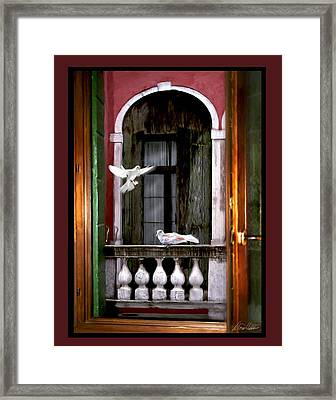 Venice Window Framed Print