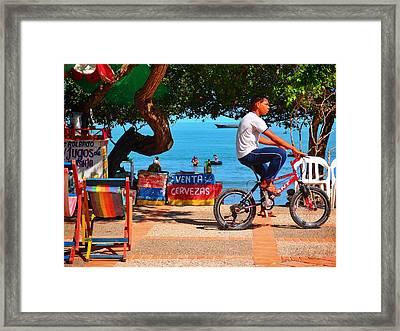 Venta De Cervezas Framed Print