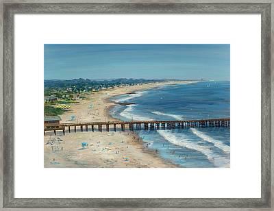 Ventura Pier Summer Time Framed Print by Tina Obrien