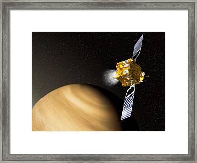 Venus Express Mission, Artwork Framed Print by David Ducros