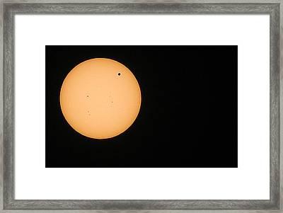 Venus In Transit 2012 Framed Print by Elizabeth Hart