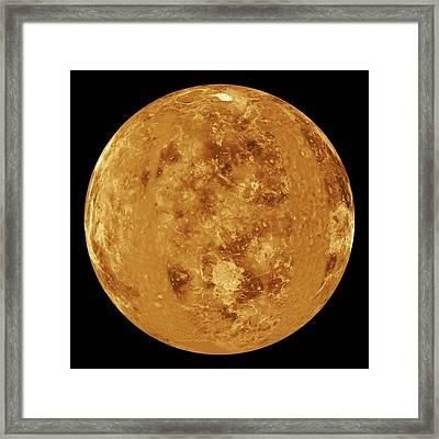 Venus, Radar Map Framed Print by Jplnasa