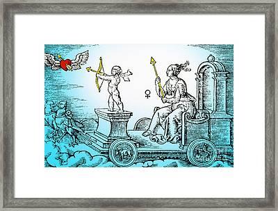 Venus, Roman Goddess Of Love Framed Print