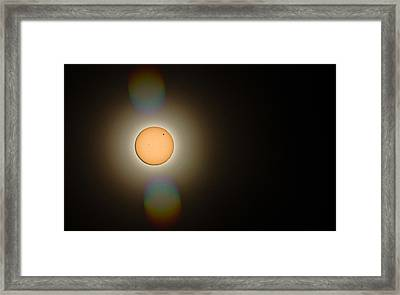 Venus Transit 2012 Framed Print by Elizabeth Hart