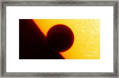 Venus Transit, Trace Image Framed Print