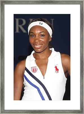 Venus Williams At A Public Appearance Framed Print by Everett
