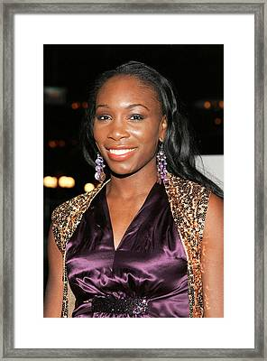 Venus Williams At Arrivals For Hitch Framed Print by Everett