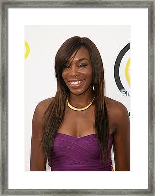 Venus Williams In Attendance For New Framed Print by Everett