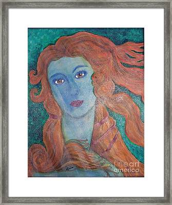 Venus's Haze Framed Print by Lucia Grilletto