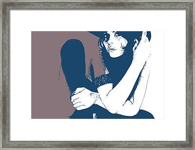 Vera Blue Framed Print by Naxart Studio