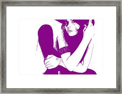 Vera Purple Framed Print by Naxart Studio