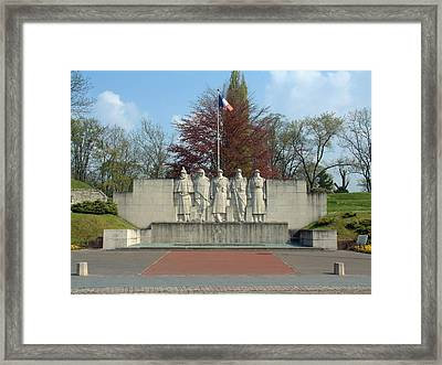 Framed Print featuring the photograph Verdun World War I Memorial by Joseph Hendrix