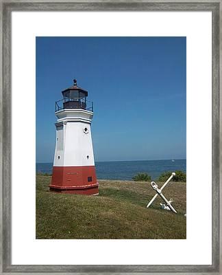 Vermillion Ohio Lighthouse Framed Print by Gordon Wendling