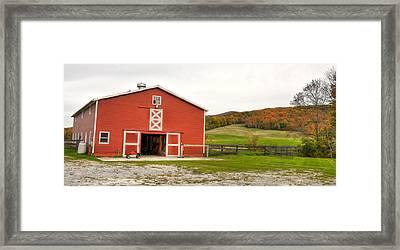 Vermont Barn House Framed Print