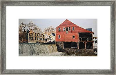 Vermont Mill Stream Framed Print