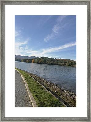 Vermont Water And Sky Framed Print by Elijah Brook