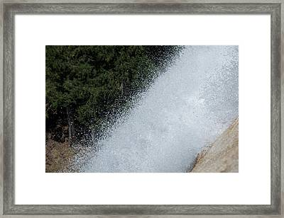 Vernal Falls On The Mist Trail At Yosemite Np Framed Print