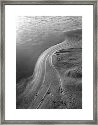 Vernal Sand Swirls Framed Print