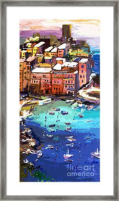 Vernazza Italy Cinque Terre Seaside  Framed Print