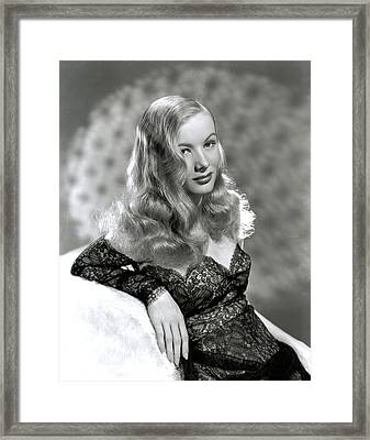 Veronica Lake, Early 1940s Framed Print by Everett