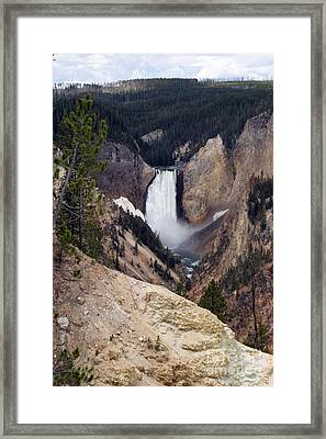 Framed Print featuring the photograph Vertical Lower Falls Of Yellowstone by Living Color Photography Lorraine Lynch
