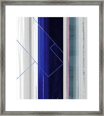 Vertical Rain Framed Print by Naxart Studio