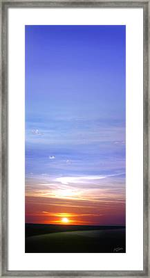 Framed Print featuring the photograph Vertical Sunset by Rod Seel