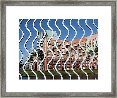 Vertical Waves Framed Print