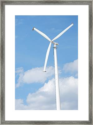 Vertical Windmill Framed Print by Kim French
